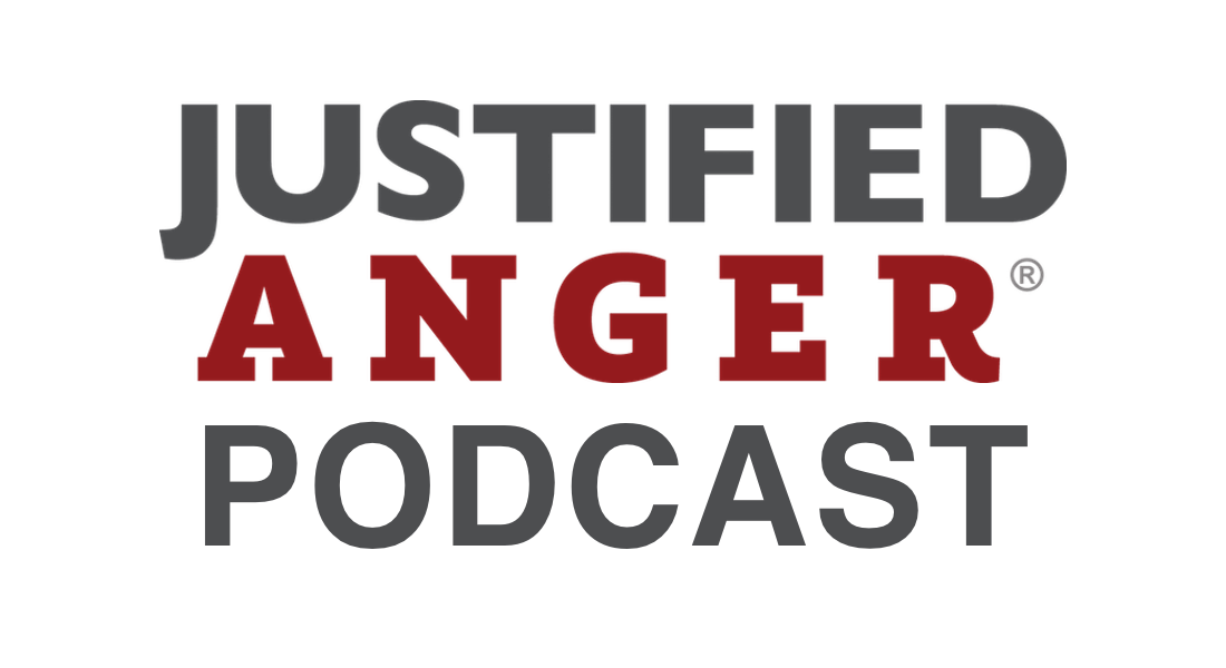 Justified Anger Podcast Logo-Transparent Text