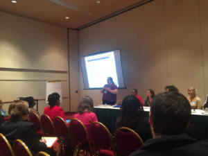 Karen Reece as part of the Education Initiatives Panel Breakout moderated by Ananda Mirilli